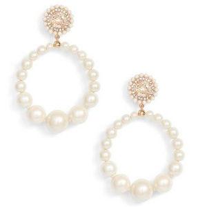 KATE SPADE Pearl Hoop Earrings